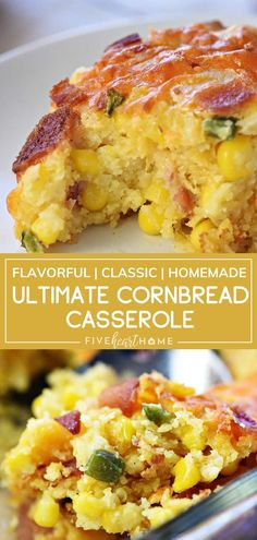 Ultimate Cornbread Casserole takes the classic side dish to the next level, made from scratch with the flavorful additions of bacon, cheddar, and jalapeño! Taco Side Dishes, Dinner Side Dishes, Best Side Dishes, Dinner Sides, Vegetable Side Dishes, Side Dish Recipes, Food Dishes, Salmon Side Dishes, Side Dishes For Ribs