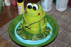 I made this cute little frog on a Lilly Pad. This shall be one of our party items.