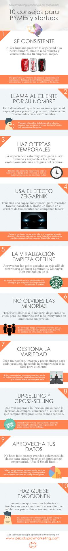 Neuromarketing: 10 consejos para pymes y startups #infografia #marketing