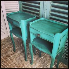 Beautiful Bespoke Painted Vintage French Bedsides - we offer a painting service here - Sold! #furniturepainting #paintedfurniture #frenchfurniture #vintageshop #sussex #lovinglymade