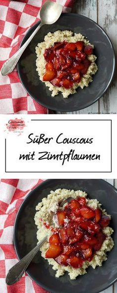 Süßer Couscous mit Zimtpflaumen | Rezept | Kochen