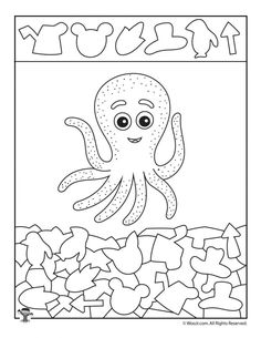Octopus hidden forms to print out Woo! children's activities Octopus hidden forms to print out Woo! children's activities, form # Children's Animal Activities For Kids, Animal Crafts For Kids, Hidden Pictures Printables, Animal Pictures For Kids, Hidden Picture Puzzles, Teaching Shapes, Ocean Crafts, Hidden Objects, Worksheets For Kids