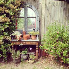 mirror in a country vintage style garden mirror in a country vintage style garden Outdoor Mirrors Garden, Garden Mirrors, Mirrors In Gardens, Garden Whimsy, Garden Cottage, Garden Wall Designs, Garden Design, Hidden Garden, My Secret Garden