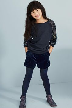 Buy Navy Sequin Arm Crew (3-16yrs) from the Next UK online shop