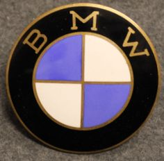 BMW Roundel, logo. 60mm, enameled, Vintage. LAST IN STOCK