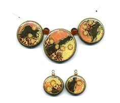 Set for necklace of polymer clay earrings by Montse on Etsy