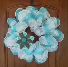 Deco Mesh Spring/summer wreath