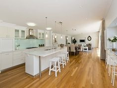 Floorboards in a kitchen design from an Australian home - Kitchen Photo 17181169