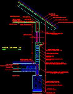 Escantillon de albañileria (ladrillos) (dwgDibujo de Autocad)