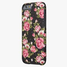 Cute iPhone 6 Case! This Shabby Chic Pink And White Roses iPhone 6 Case can be personalized or purchased as is to protect your iPhone 6 in Style!