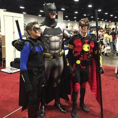 "Chris Burns on Instagram: ""My protégés""  #frankmiller #batman #robin #nightwing #cosplay"