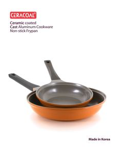 CERACOAL COOKWARE CERAMIC COATED NON-STICK FRYPAN & BRIGHT YOUR KITCHEN