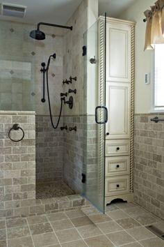 Beautiful master bathroom decor some ideas. Modern Farmhouse, Rustic Modern, Classic, light and airy bathroom design a few ideas. Bathroom makeover ideas and bathroom remodel ideas. Bathroom Renos, Basement Bathroom, Bathroom Renovations, Home Remodeling, Bathroom Ideas, Simple Bathroom, Budget Bathroom, Bathroom Designs, Cozy Bathroom