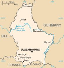 After the defeat of Napoleon in 1815, Luxembourg was disputed between Prussia and the Netherlands. The Congress of Vienna formed Luxembourg as a Grand Duchy within the German Confederation in personal union with the Netherlands, being at the same time a part of the Netherlands and ruled as one of its provinces, with a Confederate fortress manned by Prussian troops.[14] This situation was revised by the 1839 First Treaty of London, from which date Luxembourg's full independence is reckoned.