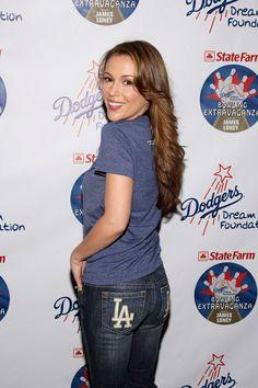 Alyssa Milano in dark blue shirt & dark blue Jean pants Alyssa Milano Charmed, Alyssa Milano Hot, Hottest Female Celebrities, Celebs, Bowling, Allyssa Milano, Dodgers Girl, Thing 1, Princesses