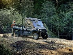 New 2017 Kawasaki Mule Pro-FX EPS Camo ATVs For Sale in Oregon. 2017 Kawasaki Mule Pro-FX EPS Camo, 2017 Kawasaki Mule Pro-FX EPS Camo THE KAWASAKI DIFERENCE THE MULE PRO-FX EPS CAMO SIDE X SIDE FEATURES THE RICH PATTERNS OF REALTREE XTRA® GREEN CAMOUFLAGE THAT CAN HELP GET YOU INTO A PERFECT POSITION ON THE HUNT WITHOUT EVER BEING NOTICED. Massive Cargo Bed can fit a standard size 40x48 pallet with the tailgate closed Powerful 812cc 3-cylinder engine with massive torque, impressive pulling… Kawasaki Mule, Missouri, Camouflage, Ohio, Monster Trucks, Hunting, Florida, Oregon, Atvs
