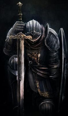 Tattoos Discover Art of Dark Souls: Photo Crusader Knight, Knight Armor, Knight Sword, Red Knight, Dark Knight, Arte Dark Souls, Christian Warrior, Warrior Tattoos, Angel Warrior Tattoo