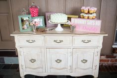 Vintage First Birthday, Event Design, First Birthdays, Buffet, Facebook, Cabinet, Storage, Furniture, Home Decor