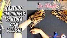 Como fazer um chinelo pantufa usando pelúcia - Videoaula Sr. Chinelo