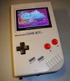 Gameboy Advanced SP stuffed into an original Gameboy, with the ability to play Original GB cartridges, GB Color cartridges, and GBA cartridges. I need to do this mod!