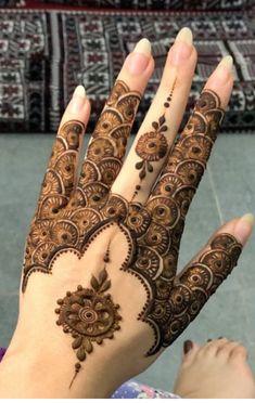Pretty Henna Designs, Basic Mehndi Designs, Floral Henna Designs, Finger Henna Designs, Mehndi Designs For Beginners, Mehndi Designs For Girls, Mehndi Design Pictures, Bridal Henna Designs, Latest Mehndi Designs