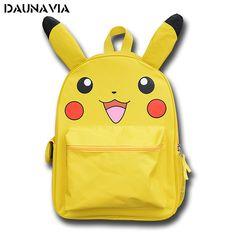 14.94$  Buy now - http://alit2h.shopchina.info/go.php?t=32764498126 - Pikachu Pokemon School Anime Backpack Mochila Escolar 3D  Bag Backpacks Mochilas Escolares Adolescentes Femininas Gifts For Kids 14.94$ #SHOPPING