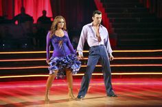 "WEEK 7 Leah & Tony  Salsa to ""I Know You Want Me"" by Pitbull  Scores: 9+8+9=26"
