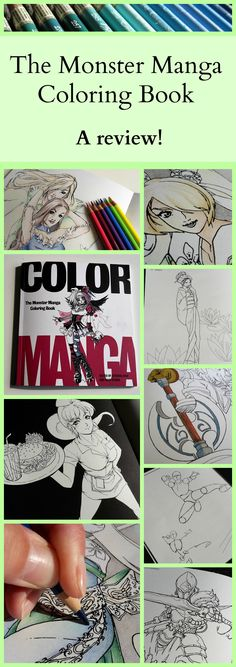 Here is my review of the Monster Manga Coloring Book! I had a lot of fun testing and colouring with different media, like coloured pencil, felt tip pens and Pro Markers.