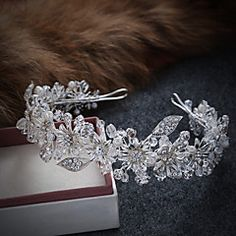 Women's Alloy / Imitation Pearl Headpiece-Wedding / Special Occasion / Casual Tiaras / Headbands 1 Piece – GBP £ 42.62