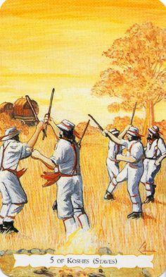 The Buckland Romani Tarot ► Five of Koshes