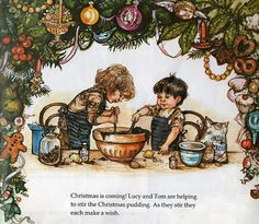 Lucy and Tom's Christmas by Shirley Hughes. This was my favourite Christmas story as a child.
