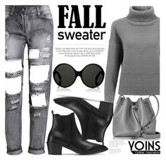 """Fall Sweater With YOINS"" by fattie-zara ❤ liked on Polyvore featuring Lancaster, Kershaw, Yves Saint Laurent, fallsweaters, yoins, yoinscollection and loveyoins"