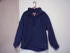 Pre-Owned Men's Duluth Blue Shoremans Windproof Fleece Jacket With 7 Pockets  #duluthtrading #CoatsJackets