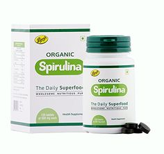 Parry Wellness Organic Spirulina Tablets - 120 Tablets (500mg Each)
