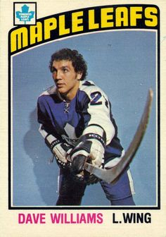 "Toronto Maple Leafs Single Season Kings of the Sin Bin Dave ""Tiger"" Williams Toronto Maple Leafs, Nhl, Tiger Dance, Maple Leafs Hockey, I Am Canadian, Vancouver Canucks, Hockey Cards, National Hockey League, Hockey Players"