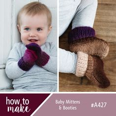 A427 Baby Mittens and Booties
