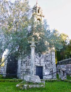 Cruceiro e igrexa de Olives