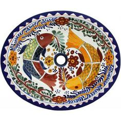 talavera sinks feature wonderfully intricate floral and animal patterns that will become the highlight of any bathroom decor the ceramic of these talavera