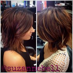 wavy layered choppy bob