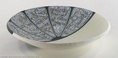 """Fantail"", 15"" kilnformed bowl Fused Glass Plates, Bullseye Glass, Glass Artwork, Bowl Designs, Decorative Bowls, Art Projects, Display, Tableware, Clocks"