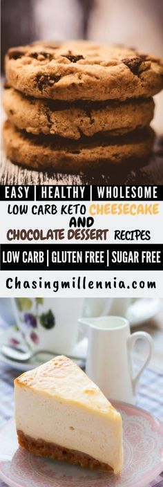 I've curated some of the best low carb dessert recipes that you are going to find. All recipes here are sugar free, gluten free & diabetic friendly. Sugar Free Cheesecake, Low Carb Cheesecake Recipe, Sugar Free Desserts, Strawberry Cheesecake, Ketogenic Desserts, Keto Friendly Desserts, Diabetic Friendly, Ketogenic Diet, Low Carb Sweets