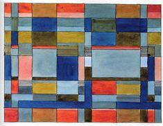 Design for a double-weave textile Bauhaus Dessau, 1927 16.4x22.9 cm Misawa Homes Bauhaus Collection, Tokyo