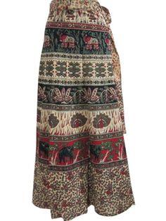 Womens Bohemian Skirt Sarong Green Ivory Elephant Print Cotton Wrap Around Skirts Mogul Interior,http://www.amazon.com/dp/B00E9TFHUQ/ref=cm_sw_r_pi_dp_Q..isb1MPJ1VHPYJ