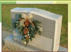 Memorial Cemetery Headstone Orange Yellow Flower