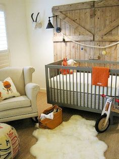 Colors for Wills room  Changing that study to a baby room but don't want to spend too much? Use the same items and add a cot.