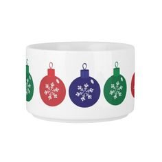 Christmas Baubles Chili Bowl  #Christmas #Baubles #Bowl