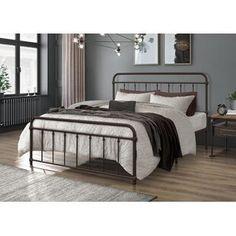 Winston Porter Sagamore Platform Bed | Wayfair Black Iron Beds, Black Metal Bed, Twin Platform Bed, Metal Platform Bed, Victorian Bed Frames, Room Ideas Bedroom, Bedroom Decor, Bed Reviews, Adjustable Beds