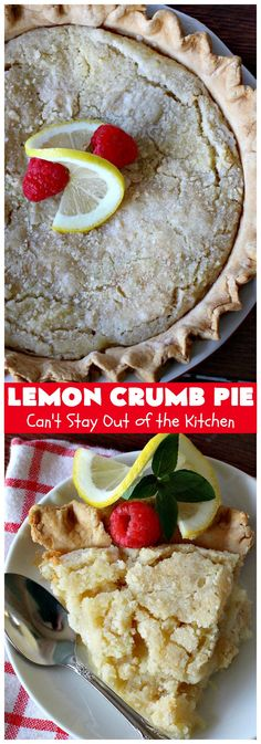 Lemon Crumb Pie – Can't Stay Out of the Kitchen Quick Easy Desserts, Delicious Desserts, Pie Crumbs Recipe, Gooseberry Patch Cookbooks, Baking Recipes, Dessert Recipes, Pie Crust Dough, Chocolate Macadamia Nuts, Lemon Filling