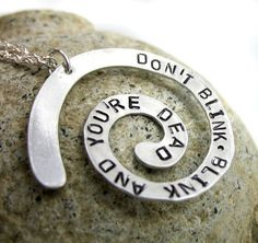 Dr. Who Necklace - Don't Blink. Blink And You're Dead