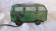 Grateful Dead VW Bus Stained Glass LAMP